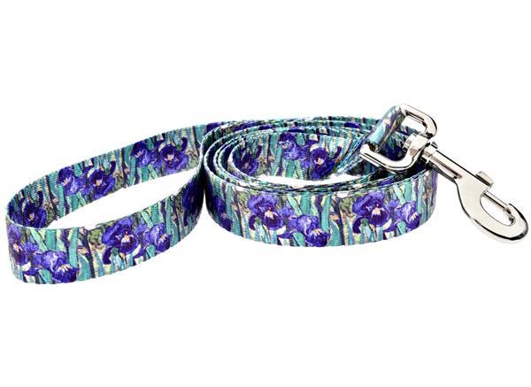 Fashion dog leash - 5ft Van Gogh Irises