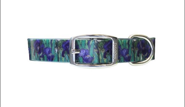 Waterproof dog collar Van Gogh Irises
