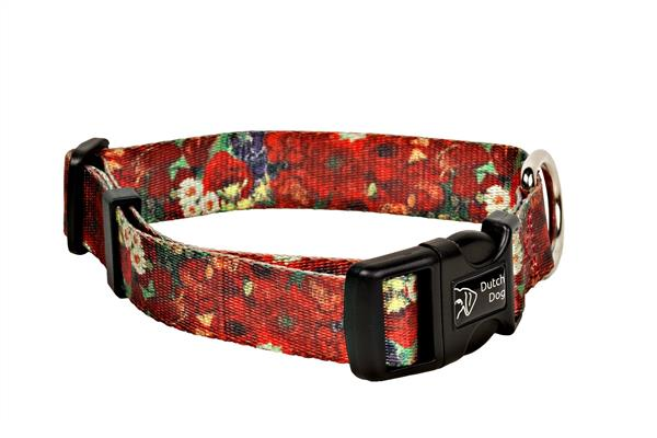 Van Gogh design fashion collar Red Poppies