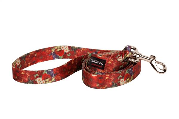 Van Gogh design fashion 5ft leash Red Poppies