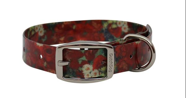Waterproof dog collar Van Gogh Red Poppies