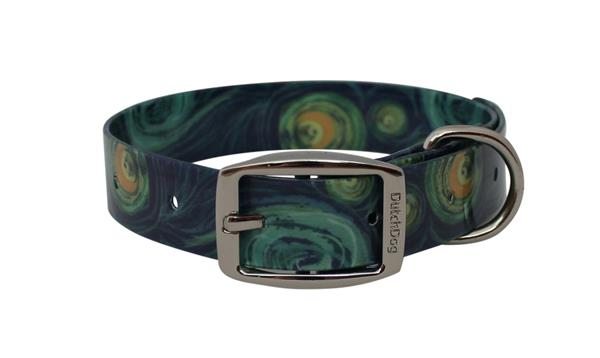 Waterproof Starry Night impression dog collar