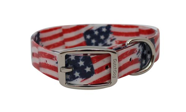 Waterproof dog collar Stars and Stripes